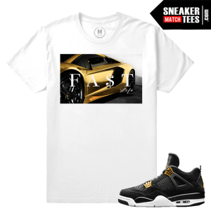 T shirt Match Jordan sneaker royalty 4s