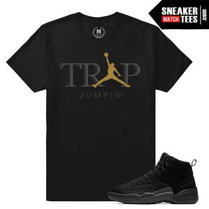 Match Air Jordan 12 OVO Black Sneakers