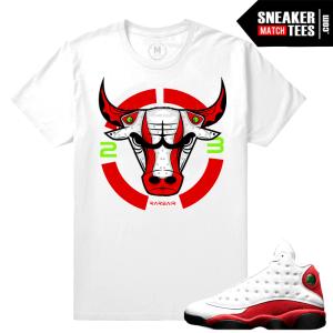 Match Air Jordan 13 Chicago T shirts