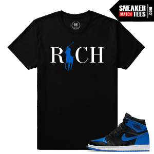 OG Royal 1s Jordan Retro match T shirt