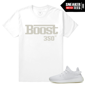 All White Yeezy Boost T shirt Match Sneakers