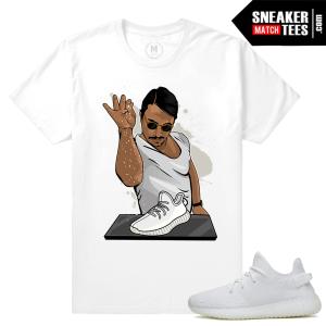 All White Yeezys Match T shirt