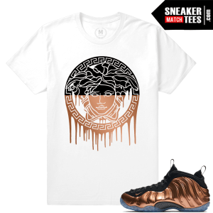 Copper Foamposite Nike Sneaker shirt