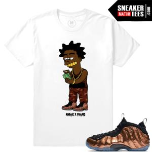 Copper Foamposite Sneaker t shirts