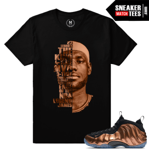 Lebron James T shirt Match Nike Copper Foams