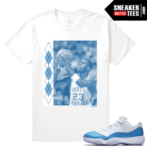 Match Air Jordan 11 UNC Sneaker Shirts