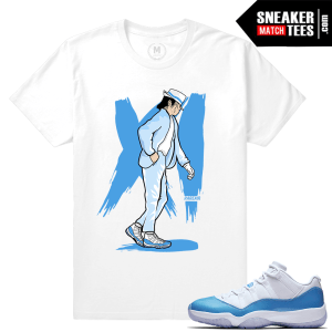 Match Air Jordan 11 University Blue tees