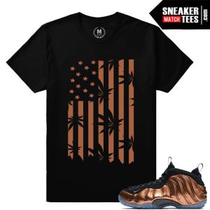 Nike Foamposite Copper Sneaker tees shirt
