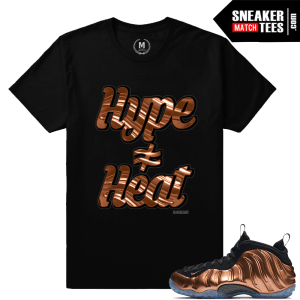 Shirts matching Copper Nike Foamposite