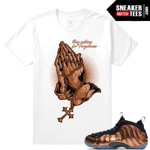 Sneaker tees Copper Foamposite Nike