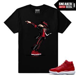 Jordan 11 Win Like 96 Gym Red Sneaker tees Black Dabin MJ
