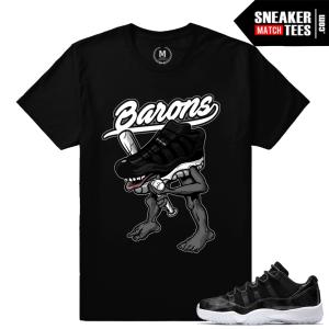 Match Barons Jordan 11 t shirts