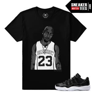 T shirts match Sneakers Jordan 11 Barons
