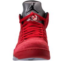 Jordan 5 Red Suede Front View