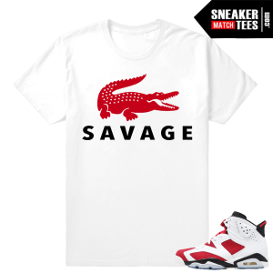 Carmine 6s Shirt Matching Sneakers