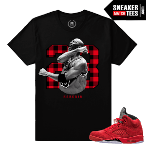 Air Jordan 5 sneaker shirts to match
