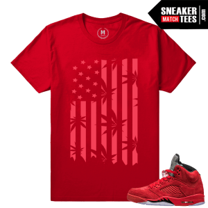 Air Jordans 5 sneaker t shirt Red