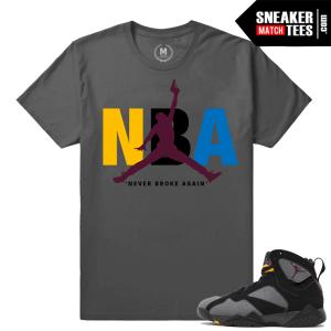 Jordan 7 Bordeaux Match Sneaker Shirt