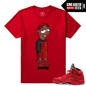 Lil Yachty T shirt matching Red Jordans