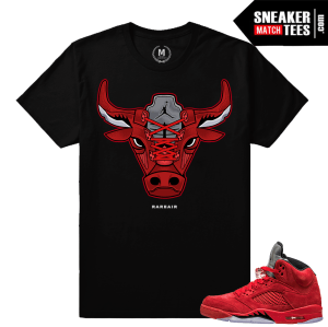 Red Jordan 5s matching t shirts