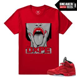 Red Suede 5s Sneakertee Shirt
