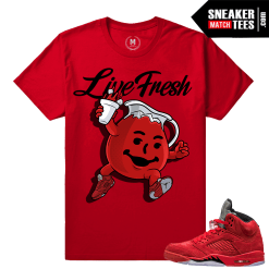 Shirt matching Red Suede 5s