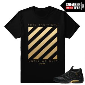 Sneaker tee shirts Match Jordan 14 DMP