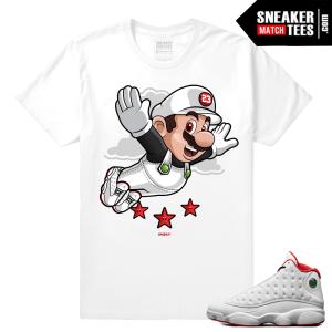 History of Flight 13s sneaker match shirt