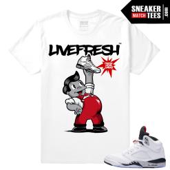 Air Jordan 5 White Cement Sneaker shirts match