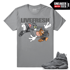 Air Jordan 8 Cool Grey Sneaker tees