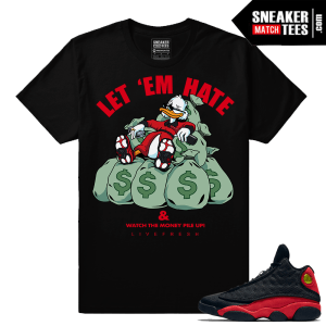 Bred 13s sneaker matching tees