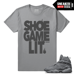 Cool Grey 8s Shoe Game Lit matching t shirt