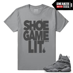 Cool Grey 8s Shoe Game Lit matching t shirt
