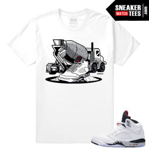 Jordan 5 Cement Sneaker tees