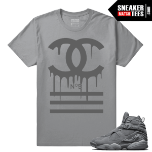 Jordan 8 Cool Grey Sneaker tee Match