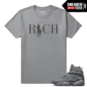 Jordan 8 Country Club Rich Cool Grey Shirt