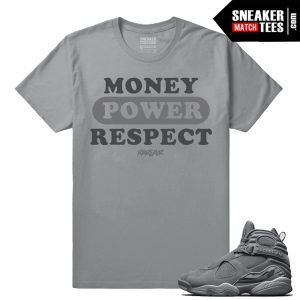 Jordan 8 Money Power Respect Sneaker Tee