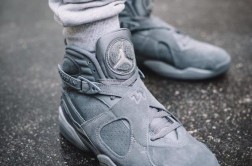 New Jordans Retro 8 Cool Grey