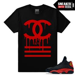 Retro 13 Bred Matching Chanel Designer Drip Black Streetwear shirt