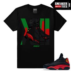 Retro Jordans 13 Bred Matching Rare Air 13 t shirt