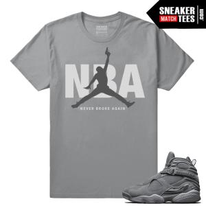 Young Boy NBA Cool Grey Jordans T shirt