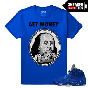 Air Jordan 5 Blue Suede Tees