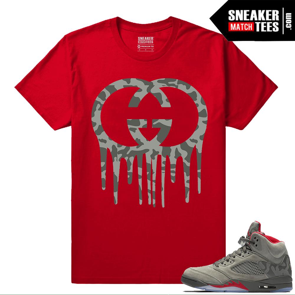 Air Jordan 5 Camisas De Camuflaje