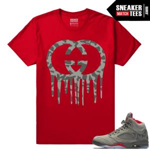 Air Jordan 5 Camo Shirts to match