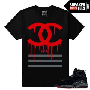 Air Jordan 8 Retro Bred Match T shirts