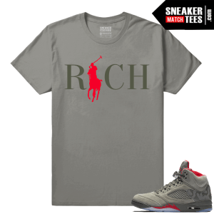Air Jordan Retro 5 Sneaker tees Camo