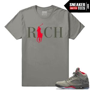 Air Jordan Retro 5 Sneaker tees Camo