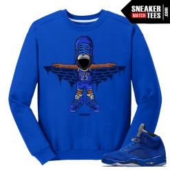 Blue Suede 5s Sweater Crewneck