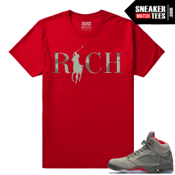 Camo Jordans Retro 5 Shirts