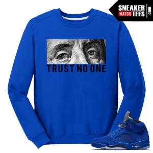 Crewneck Sweater Blue Suede 5